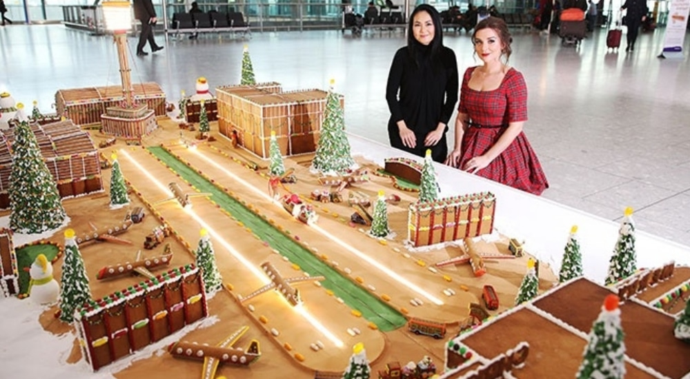 Have You Seen This Giant Gingerbread Model Of Heathrow Airport?