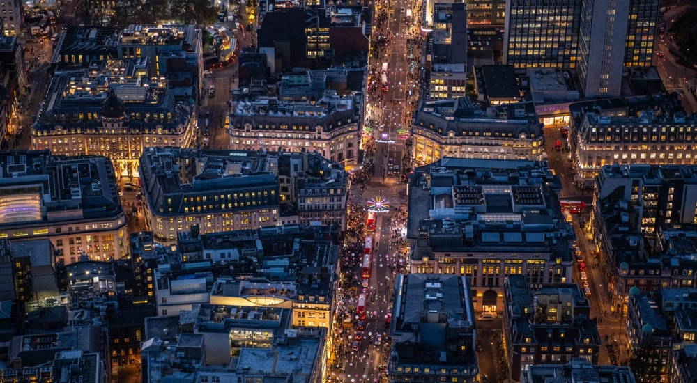 These Aerial Shots Of London At Night Are Absolutely Magical