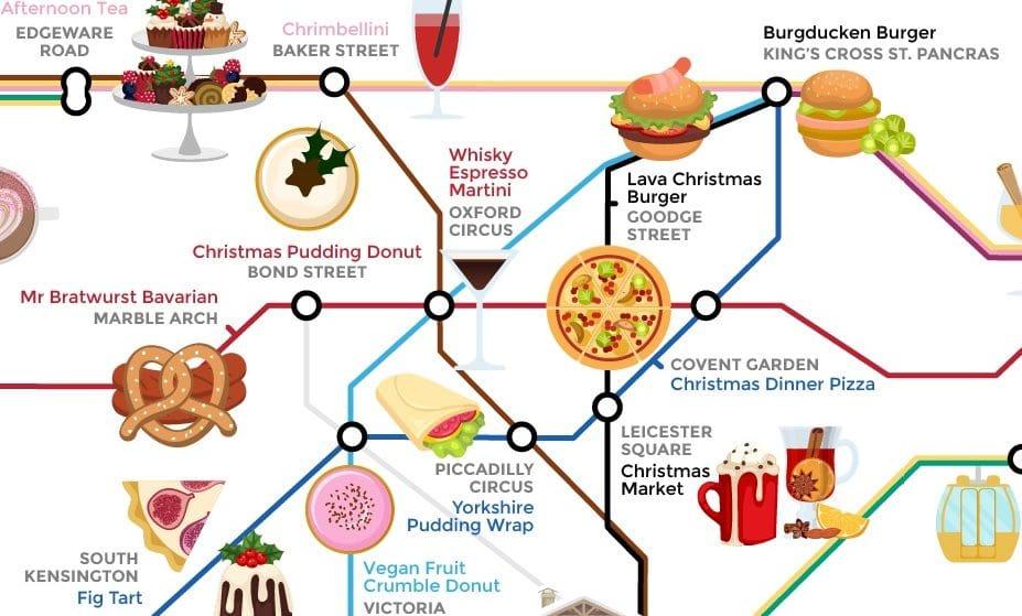 This Festive Food Tube Map Shows All Of London's Seasonal Treats