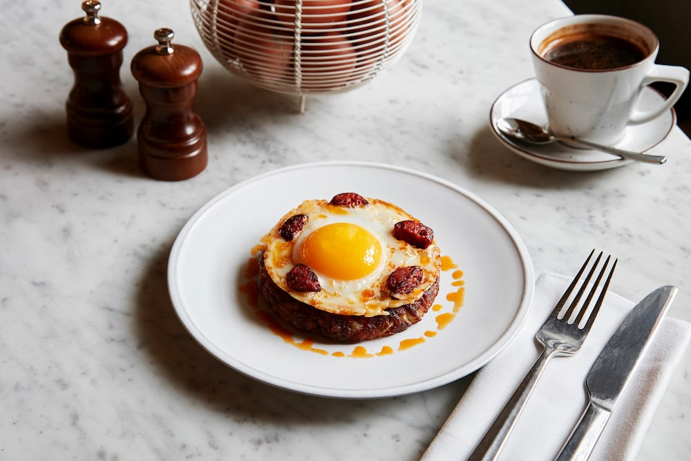 Searcys St Pancras Egg Menu Chorizo