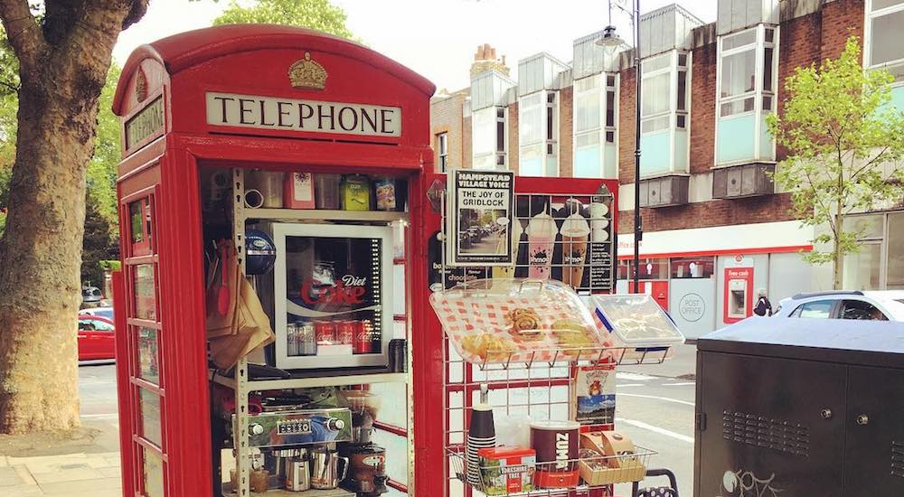 The Red Telephone Box That Serves Incredibly Good Coffee • Kape Barako