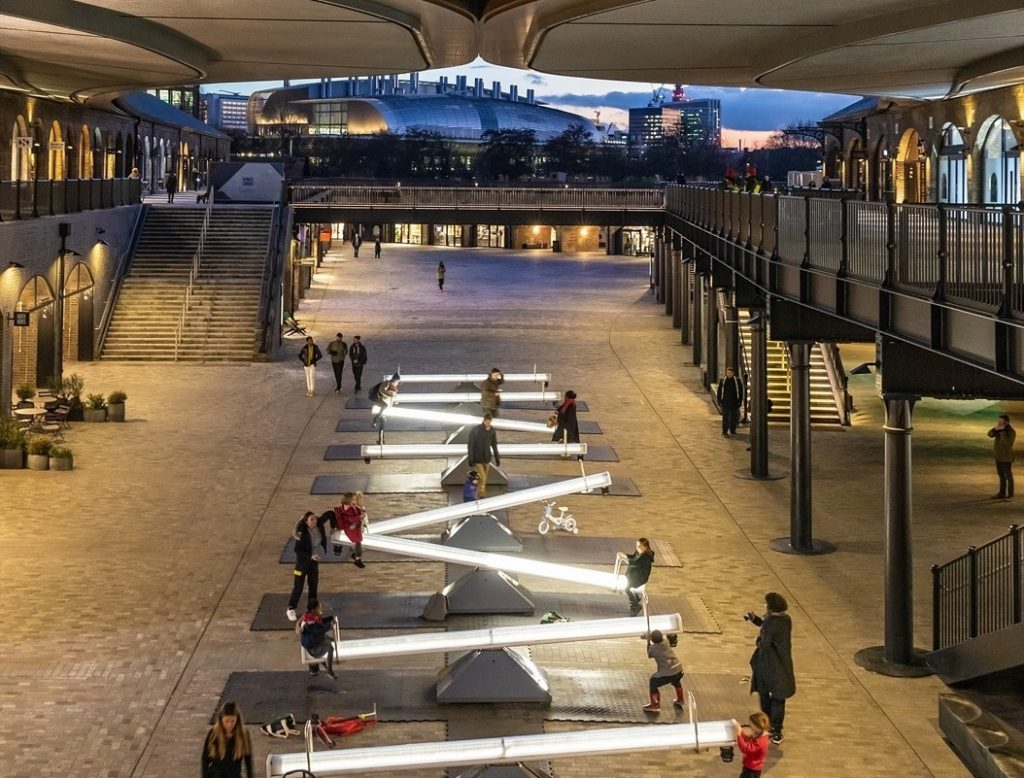 These Illuminated Musical Seesaws Have Arrived In Kings Cross