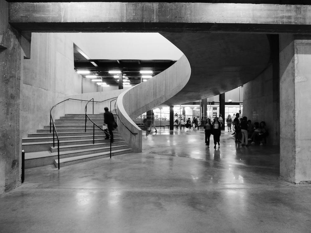 tate modern black and white staircase