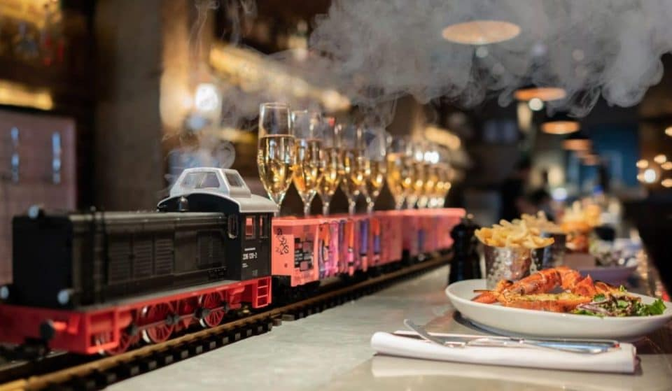 Have Your Champagne Delivered By Miniature Train At This Bottomless Brunch