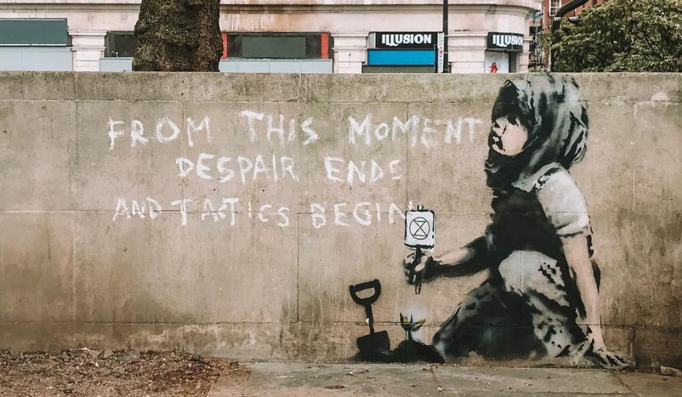 A Suspiciously Banksy-Esque Mural Has Appeared In Marble Arch