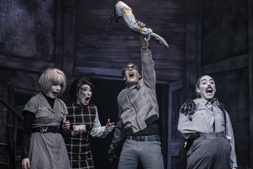 A Comedic Adaptation Of Cult Classic 'Night Of The Living Dead' Is Showing At The Pleasance Theatre