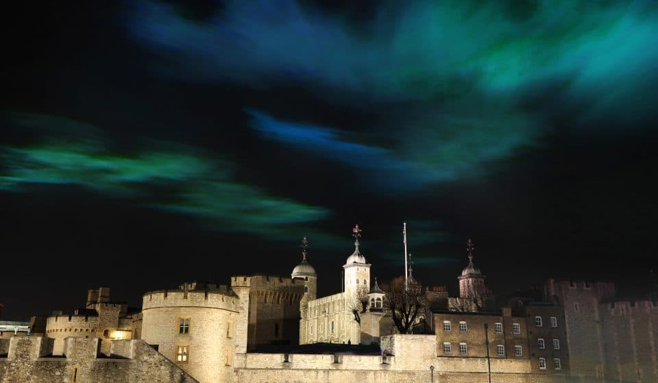 The Northern Lights Will Shine Over The Tower Of London This Weekend