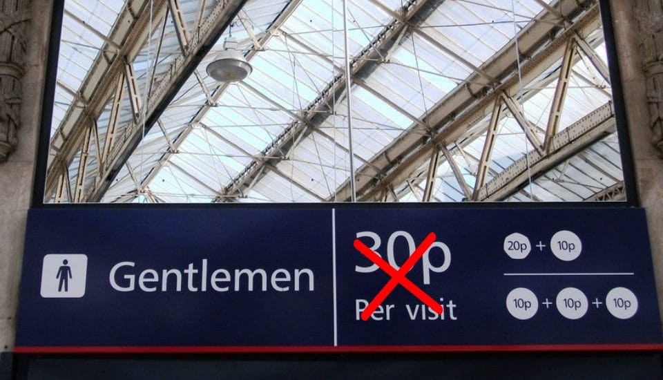 Toilet Charges At London Train Stations Have Finally Been Scrapped