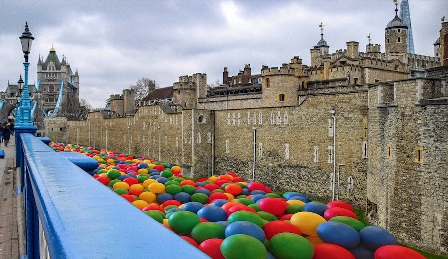 April Fools! The Tower Of London's Moat Is Turning Into A Giant Ball Pit For The Summer