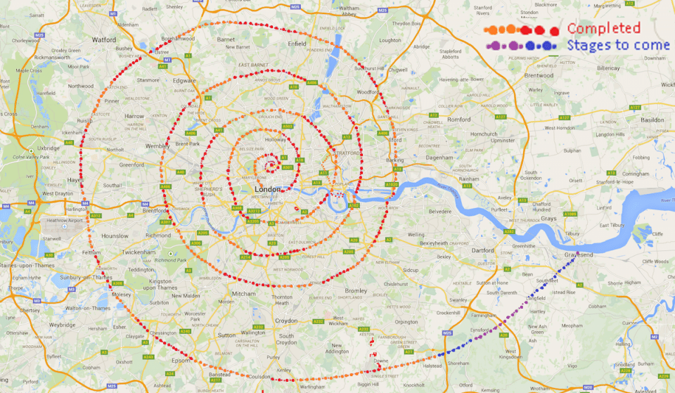 'The London Spiral' Is A Walking Challenge Of Dizzying Proportions