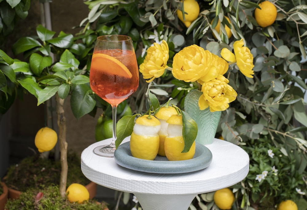 La Dolce Vita –limoncello sorbet and cocktail