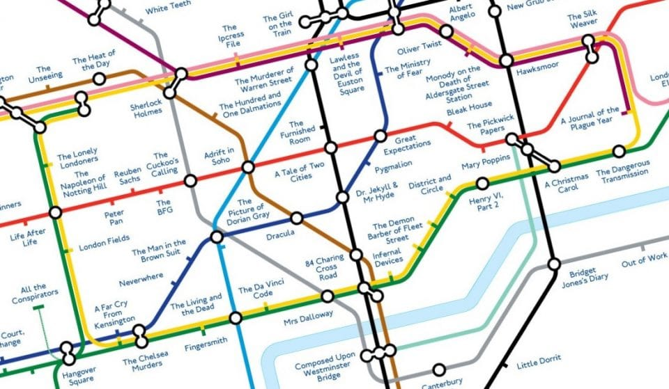 This Lovely Literary Tube Map Shows The Locations Of London's Best Books