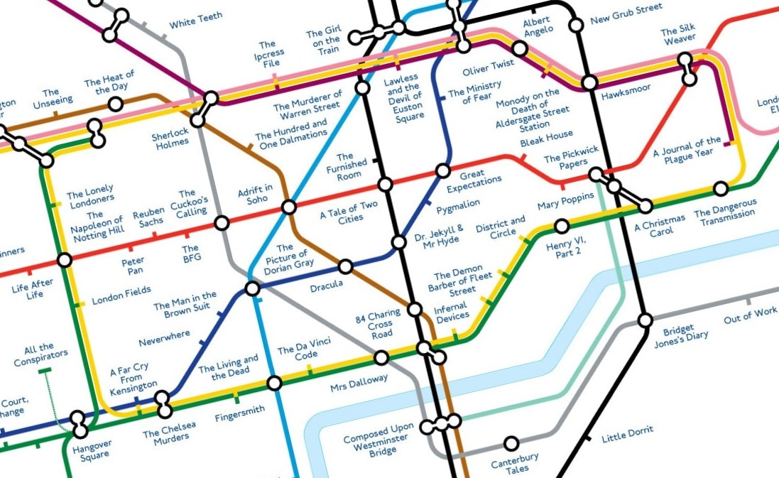 Literary Tube Map Replaces Station Names With Famous London Books