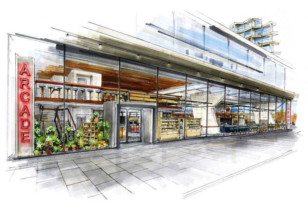arcade food hall