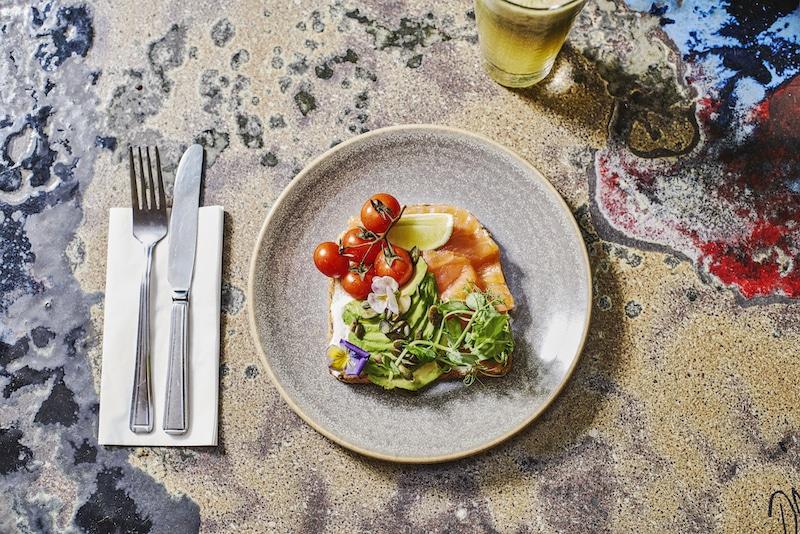 The Chelsea Courtyard - Smoked Salmon on Toast