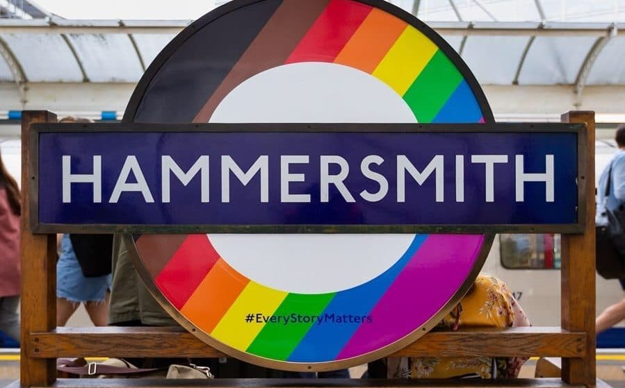 Rainbow Roundels Have Appeared On The Underground To Celebrate Pride