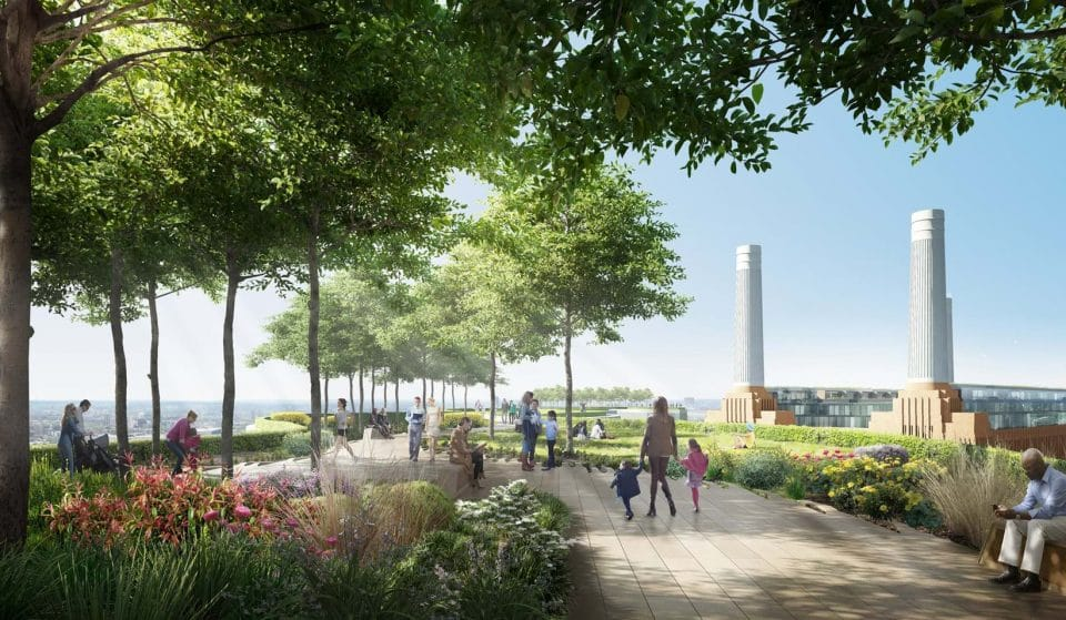 A Beautiful Roof Garden Is Set To Open At Battersea Power Station