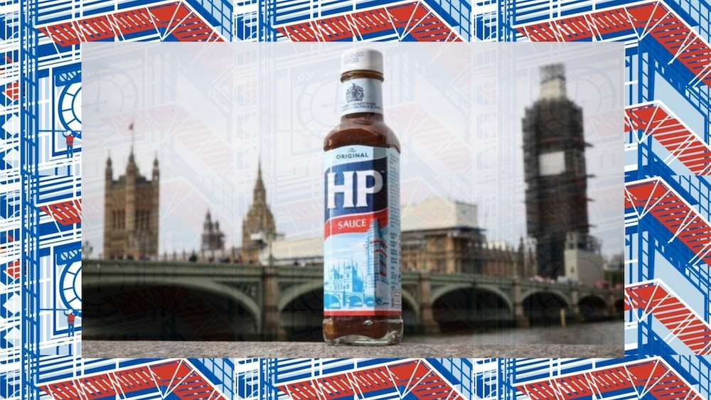 HP Sauce Have Added Big Ben's Scaffolding To Their Famous Labels