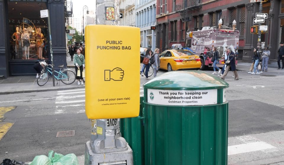 New York Now Has Public Punching Bags, And We Need Them In London