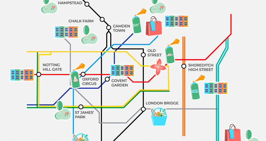 This Tube Map Will Show You London's Most Colourful Locations