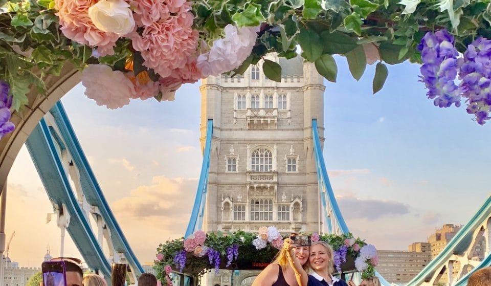 This Open Top Bus Tour Doubles Up As A Gorgeous Floral Bar