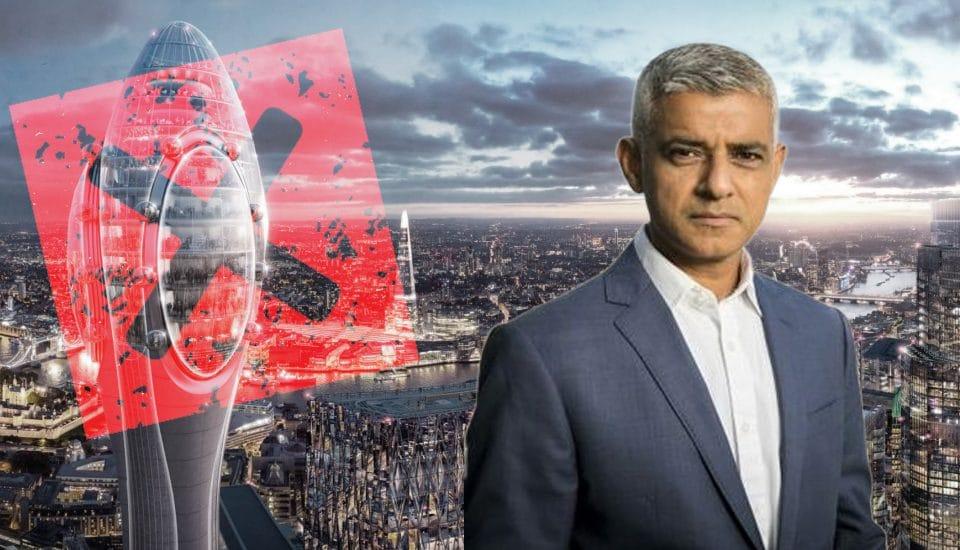 Sadiq Khan Has Blocked Plans For London's New 1,000 Foot Glass Skyscraper
