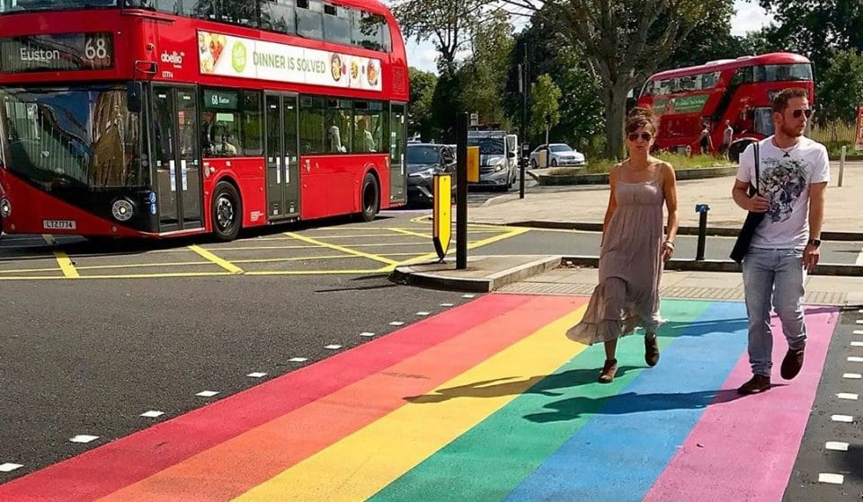 The UK's First Permanent Rainbow Crossing Has Been Installed In London