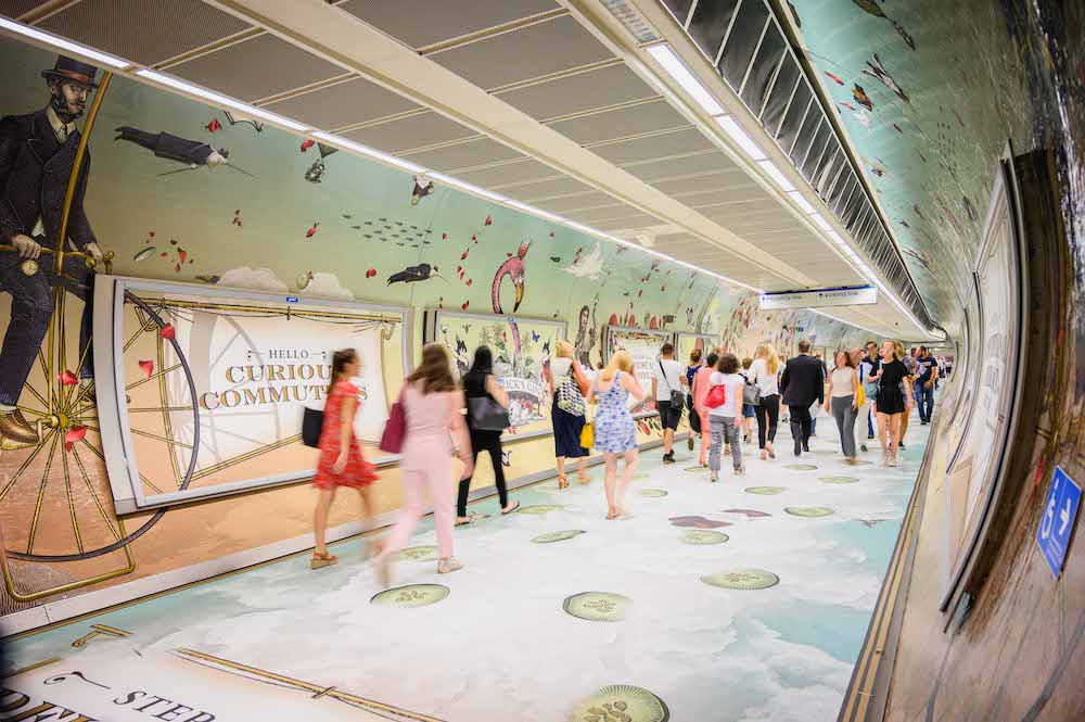 Walk Through A Gin Scented Tunnel At King's Cross Station