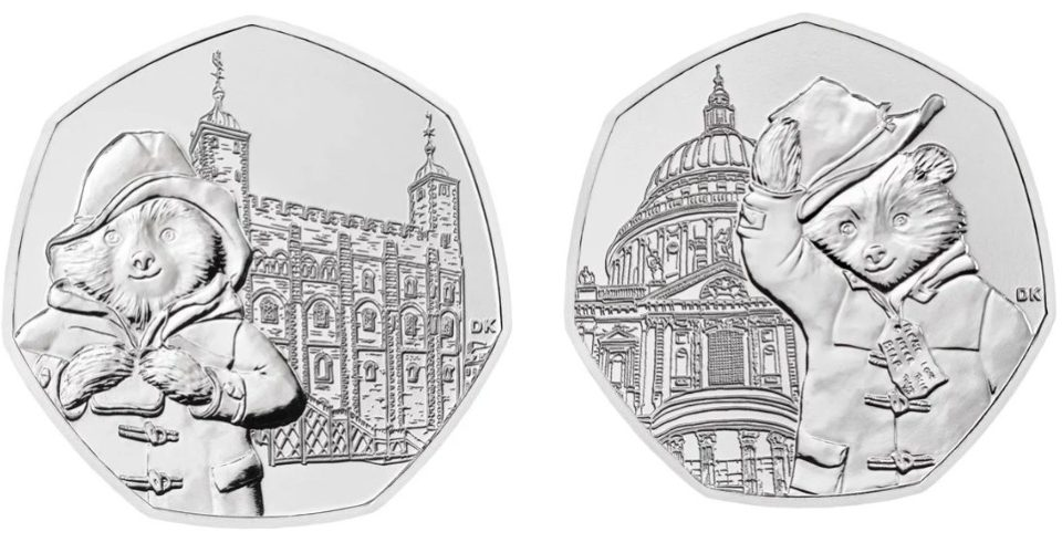 Paddington Bear Has Appeared On Two New 50p Coins
