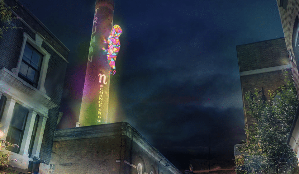 A Giant Illuminated Chameleon Will Crawl Over Brick Lane This Month