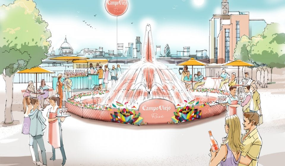 A Six-Metre 'Wine Fountain' Arrives On The South Bank This Month
