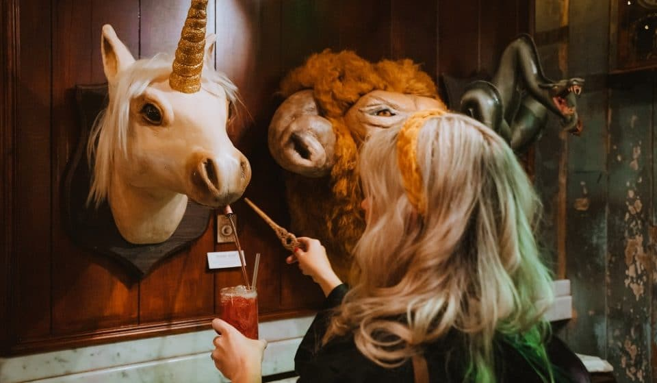 This Magical Cocktail Bar Dispenses Bottomless Gin From A Unicorn's Head • The Cauldron