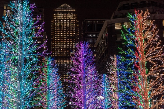 Canary Wharf's Beautiful Winter Lights Festival Has Been Replaced With A Covid-Safe Alternative