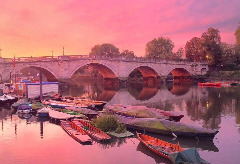 The Best Photos Of Monday Morning's Amazing, Fiery Sunrise In London