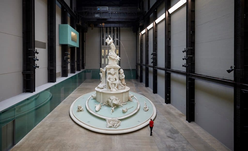 This Shark-Infested Fountain Can Now Be Found Within Tate Modern's Turbine Hall