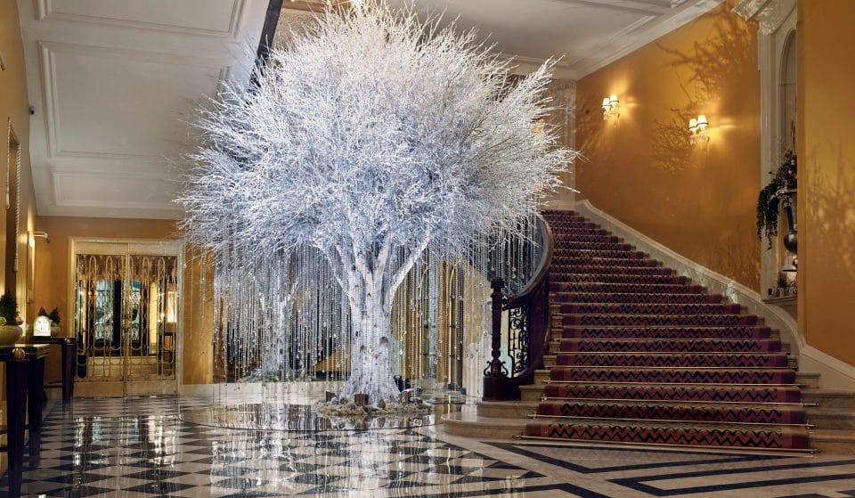 Claridge's Sparkling Art Deco Christmas Tree Is Made With Real Crystals