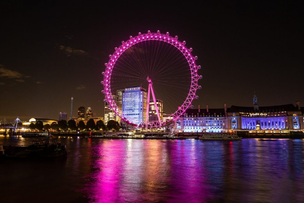 The London Eye Is Turning A Fetching Shade Of Pink