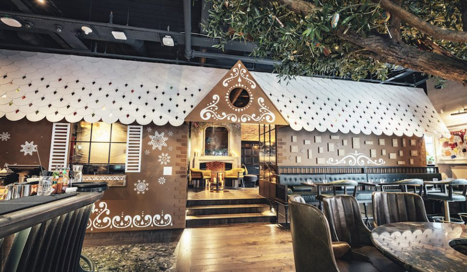 Dine Within A Life-Sized Gingerbread Chalet Inside This Spitalfields Pub