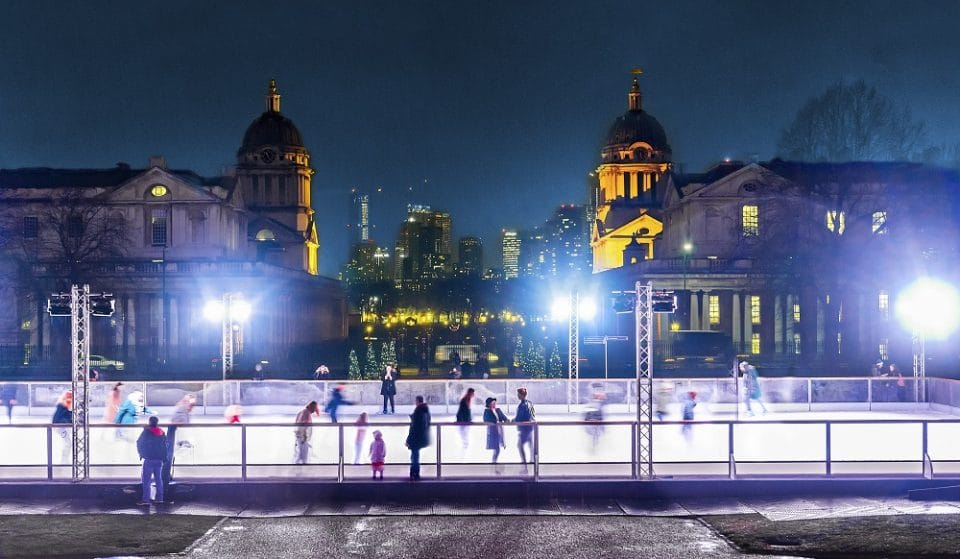 You Can Skate Around A UNESCO World Heritage Site On This Dreamy London Ice Rink