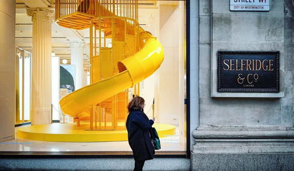 Selfridge's New Coffee Shop Features A Giant Yellow Slide For Adults