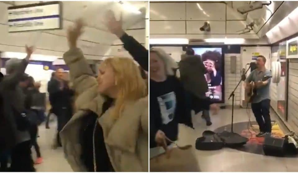 A Busker Started An Epic Dance Party On The Tube This Weekend, And It Looked Fun AF