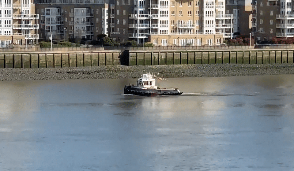 This Tugboat Has Been Sailing The Thames Whilst Playing 'Always Look On The Bright Side Of Life'