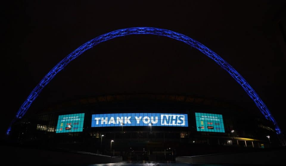 The Wembley Arch Will Light Up Blue Each Night To Show Appreciation For NHS Staff