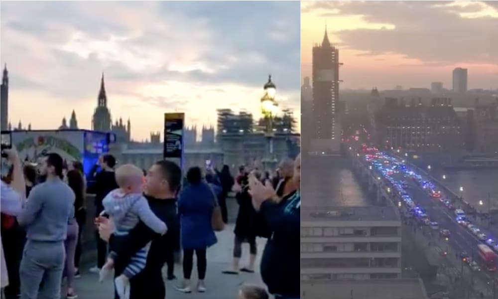 Crowds Gathered On Westminster Bridge To Clap For Our Carers And People Have Feelings About It
