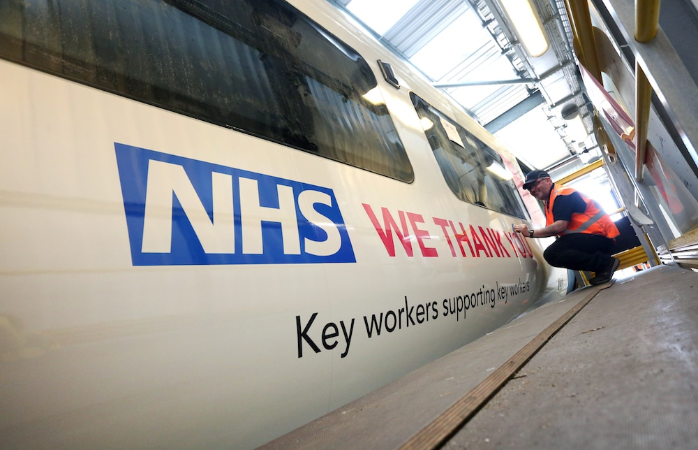 Thameslink Have Rebranded Trains To Support The NHS And Key Workers