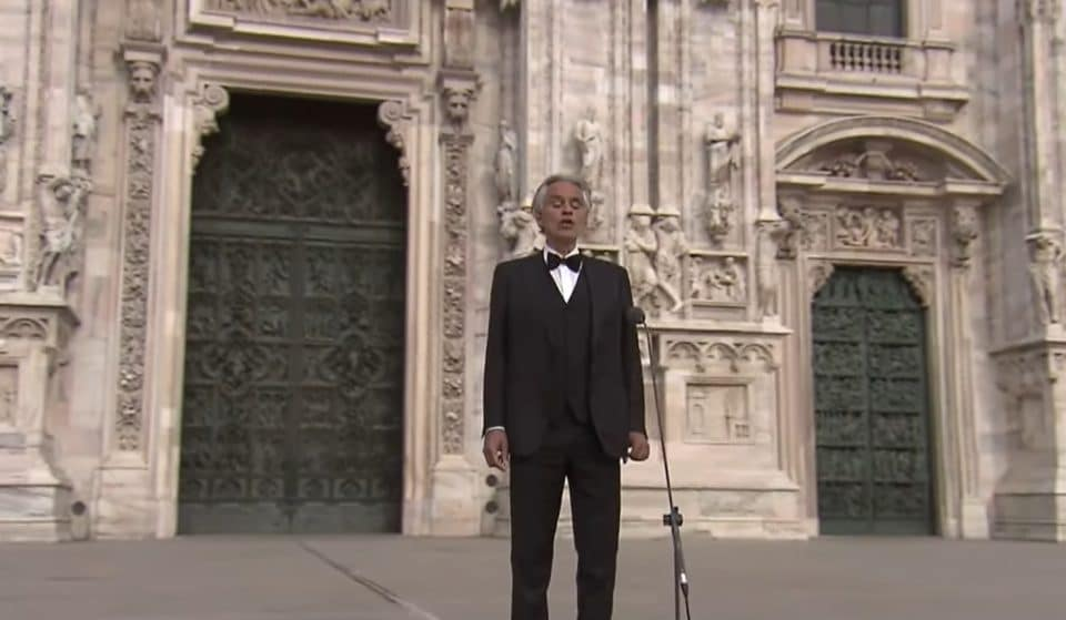 Watch Andrea Bocelli's Awe-Inspiring Easter Concert From Milan's Empty Cathedral
