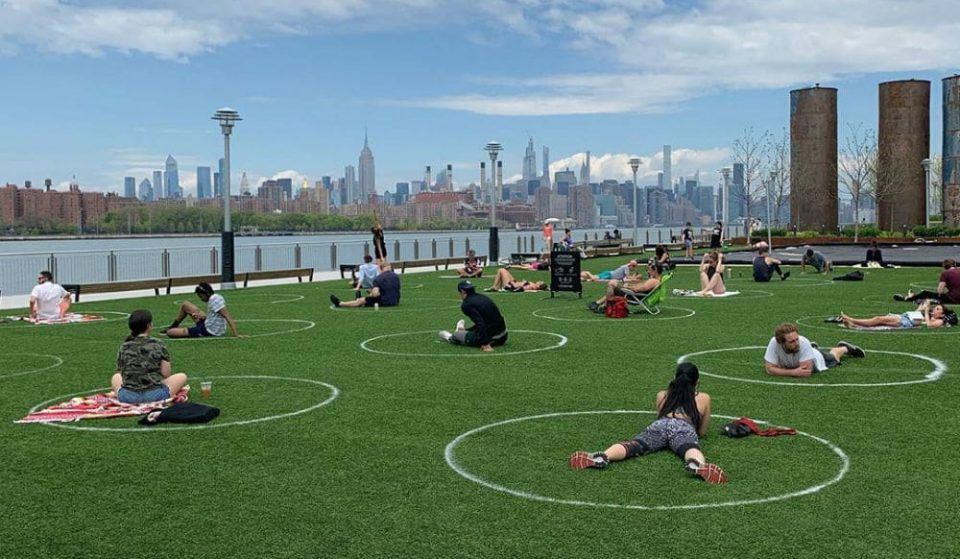 A New York City Park Has Painted 'Social Distancing Circles' So Parkgoers Stay Apart