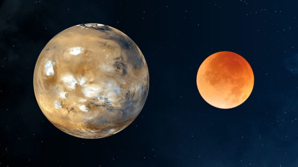 Mars and the Moon