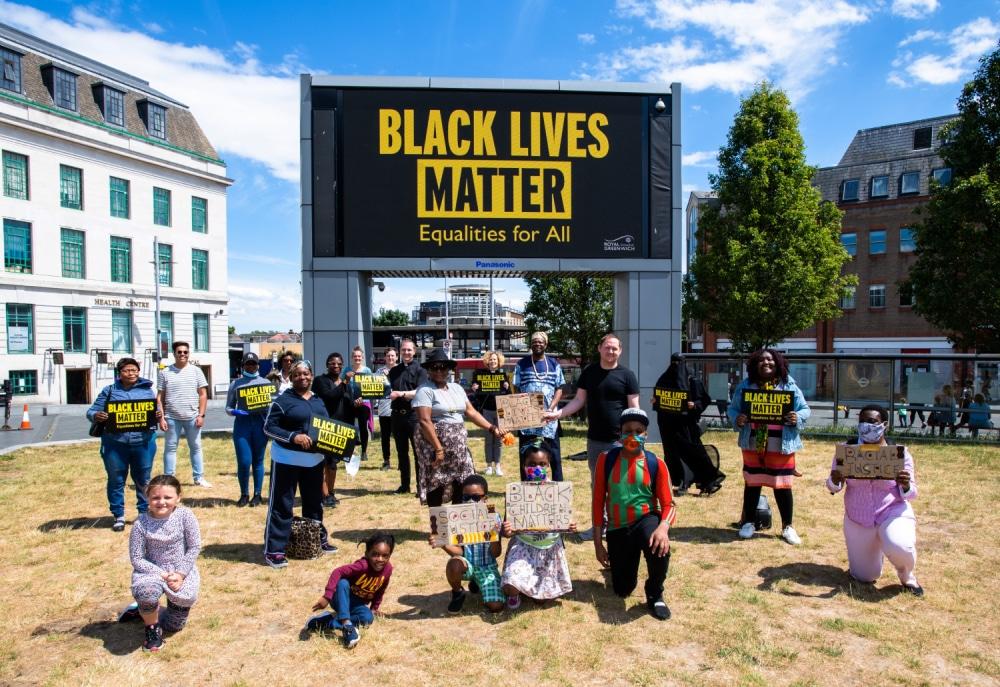 Black Lives Matter mural