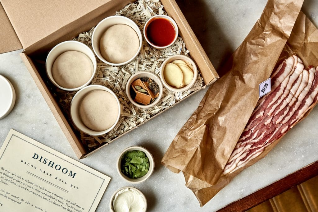 Bacon naan rolls